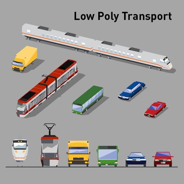Low Poly Transport Vol.1