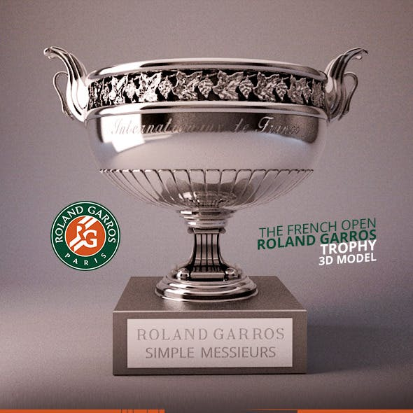 Roland Garros Trophy 3D Model