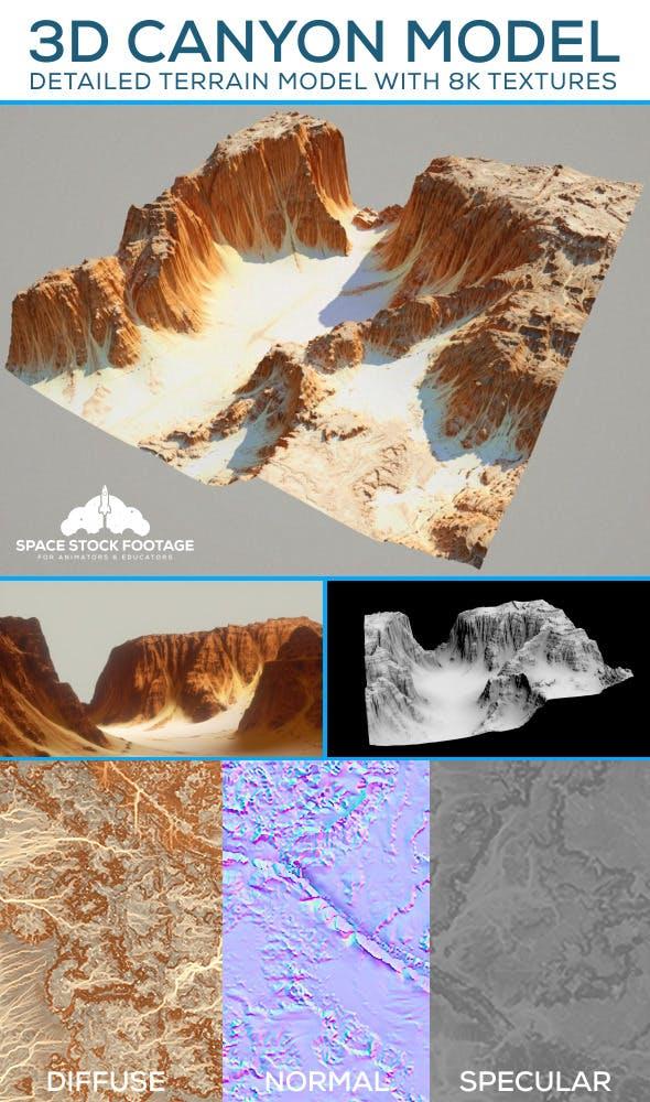 Desert Canyon Terrain - 3DOcean Item for Sale