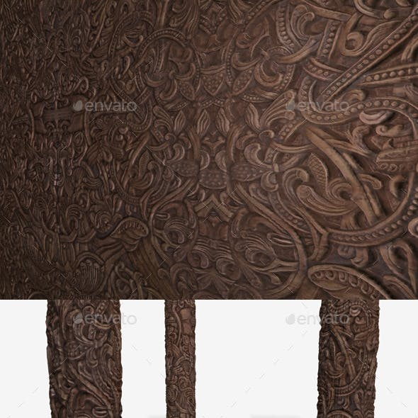 Norse Wooden Carving Seamless Texture