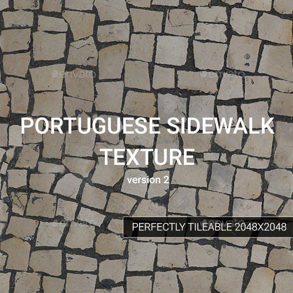Portuguese Sidewalk Texture - version 2 - 3DOcean Item for Sale
