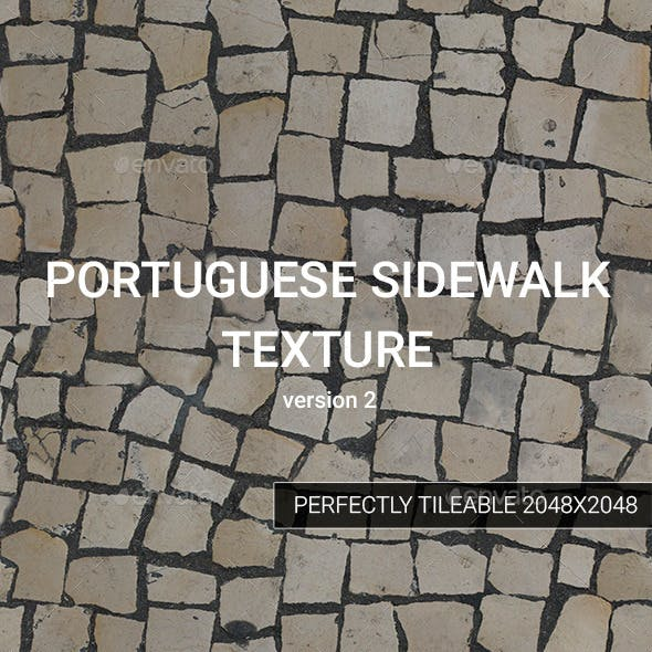 Portuguese Sidewalk Texture - version 2