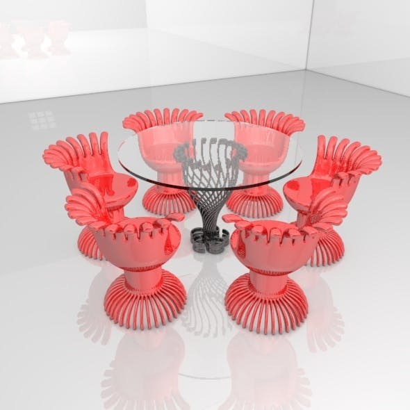 Modern Table and Chair - 3DOcean Item for Sale