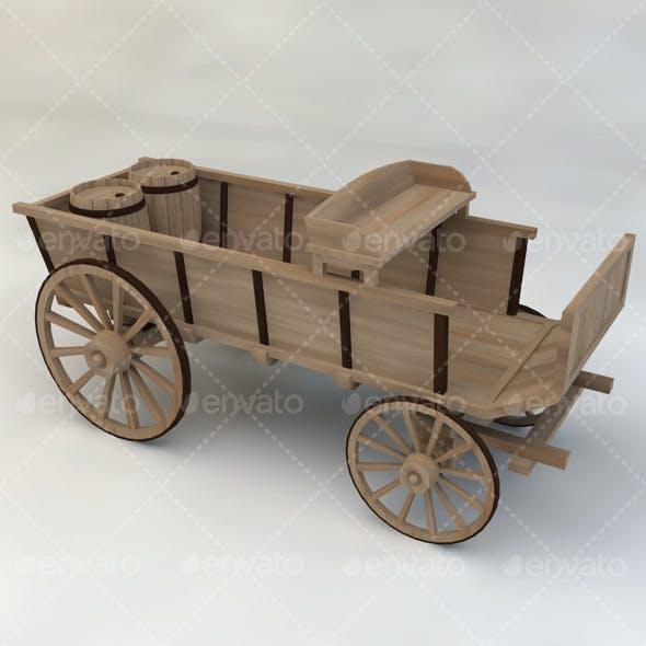 Wagon Wooden Western