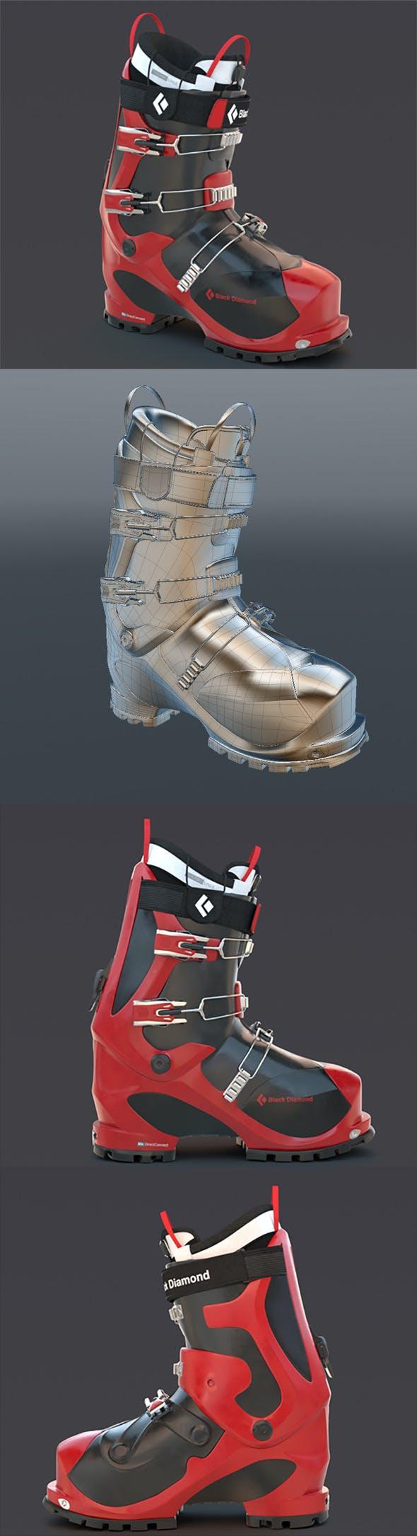 Ski boot - 3DOcean Item for Sale