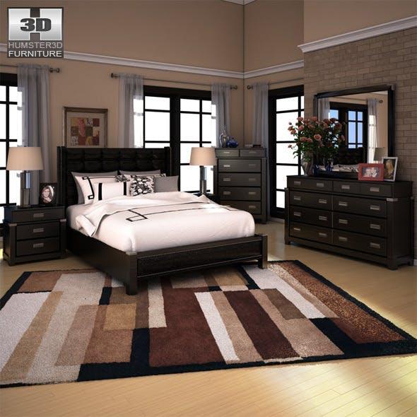Ashley Diana Platform Bedroom Set - 3DOcean Item for Sale