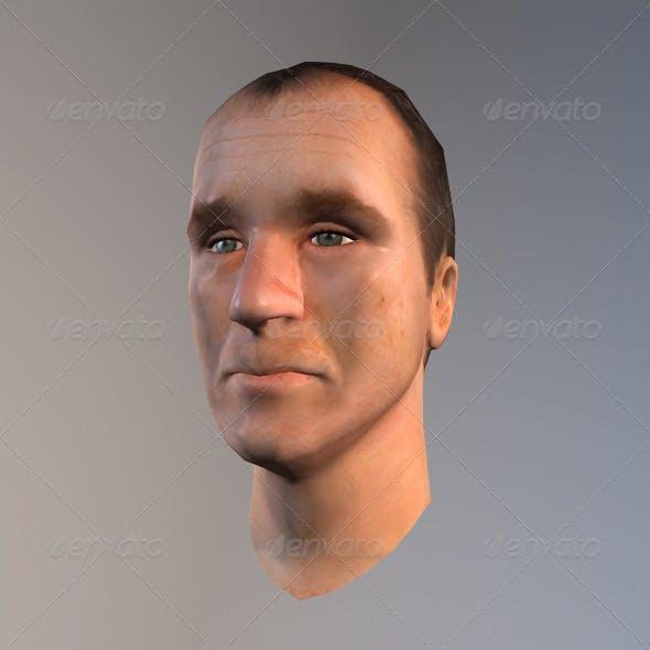 Lowpoly Head - 3DOcean Item for Sale