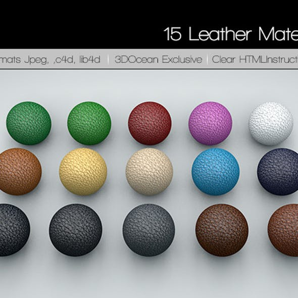 15 Leather Material Pack