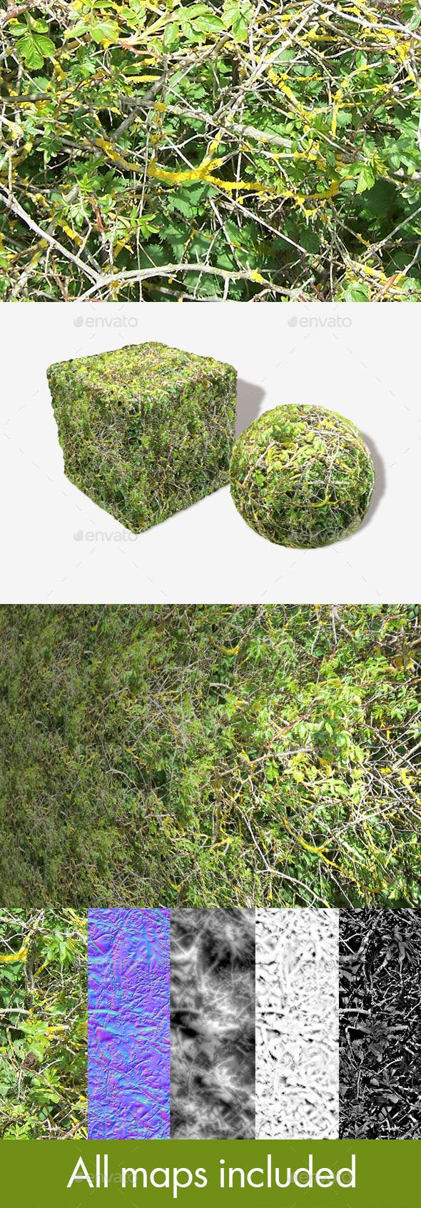 Bush Branches Seamless Texture - 3DOcean Item for Sale
