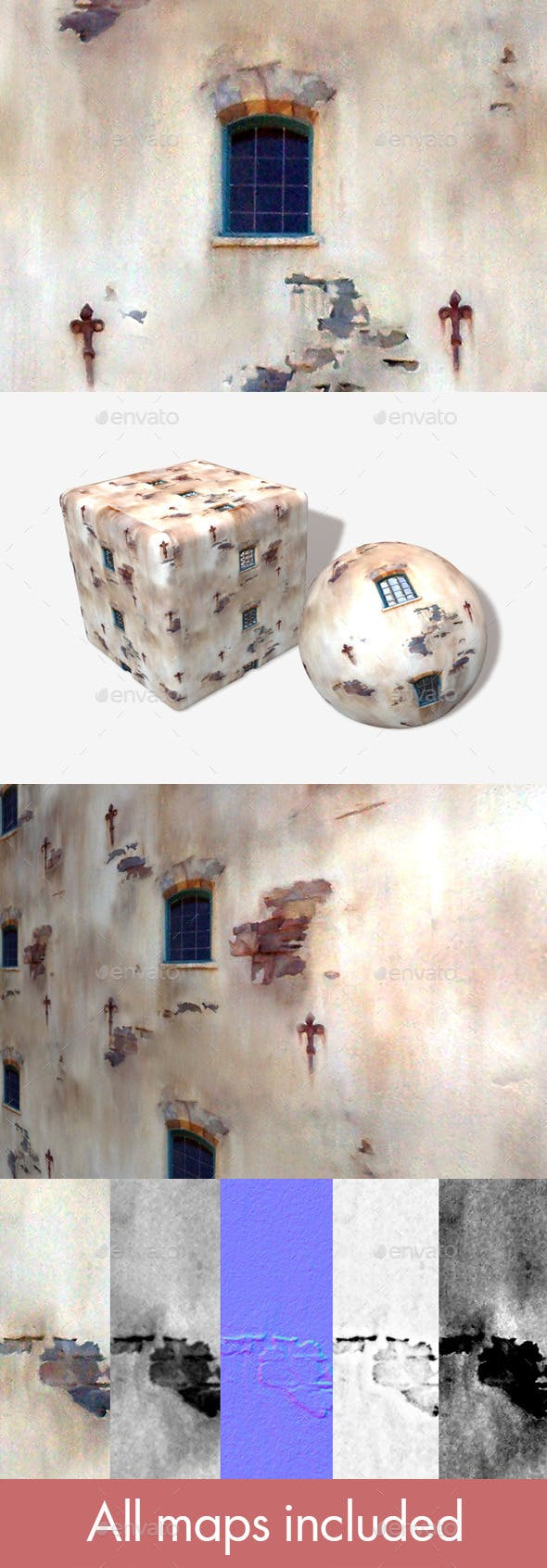 Building Ruins 02 Seamless Texture - 3DOcean Item for Sale