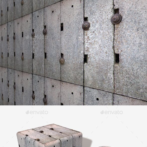 Industrial Concrete Blocks Seamless Texture