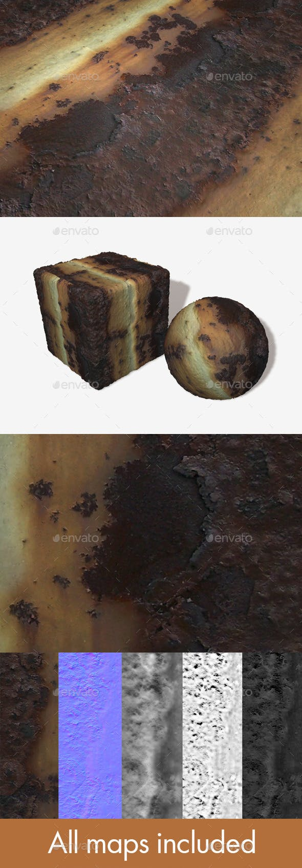Rust Seamless Texture - 3DOcean Item for Sale