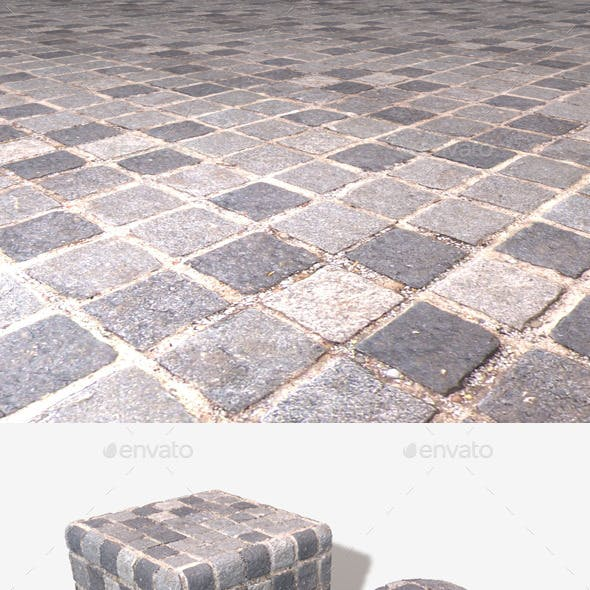 Square Cobbles Seamless Texture
