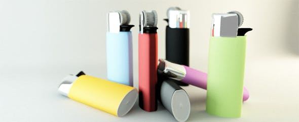 Colored lighters - 3DOcean Item for Sale