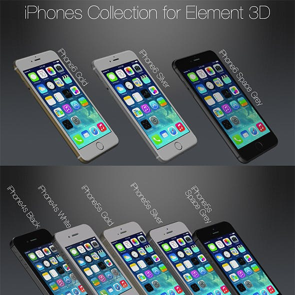 Element3D Apple iPhones Pack