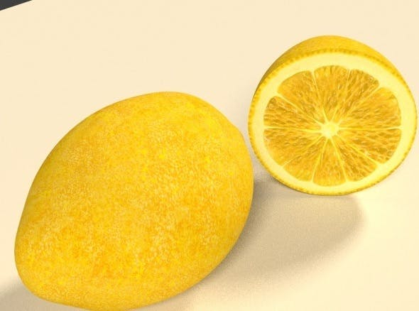 3D Lemon - 3DOcean Item for Sale