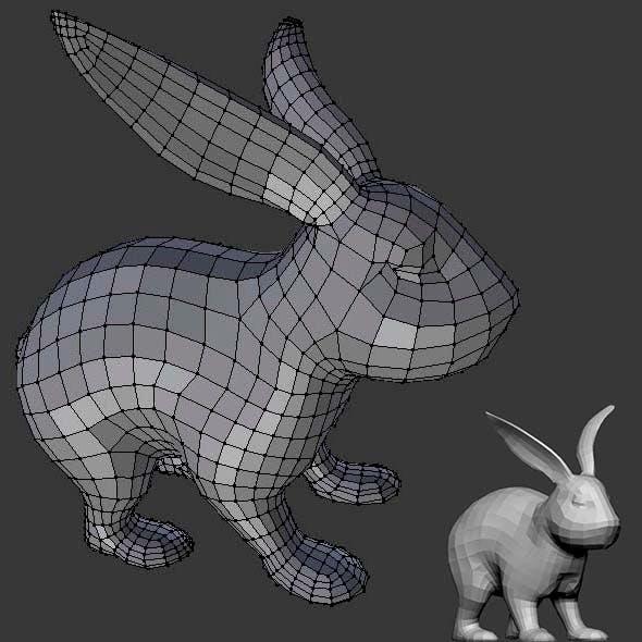 Base mesh for Rabbit - 3DOcean Item for Sale