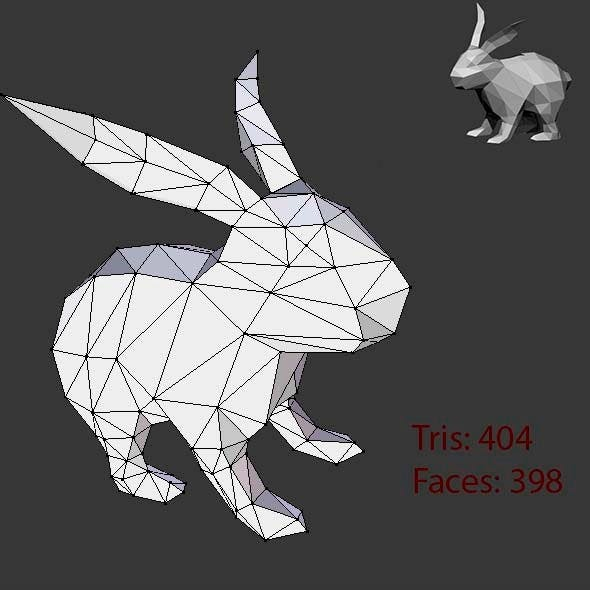Low Poly Base Mesh Rabbit