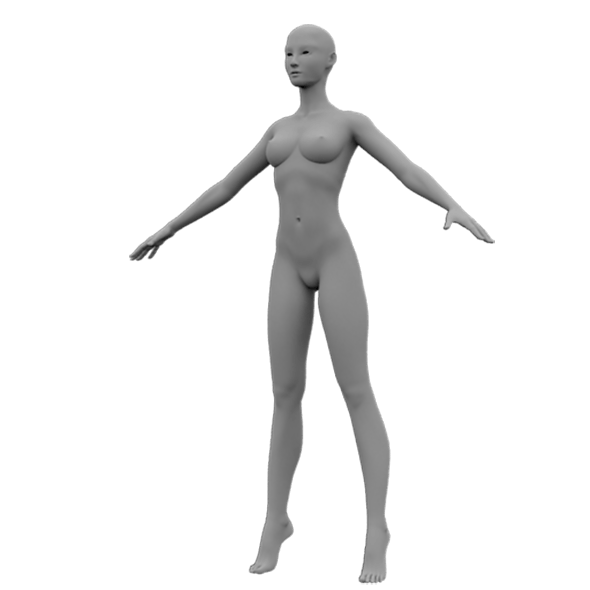 Female Base Mesh - 3DOcean Item for Sale