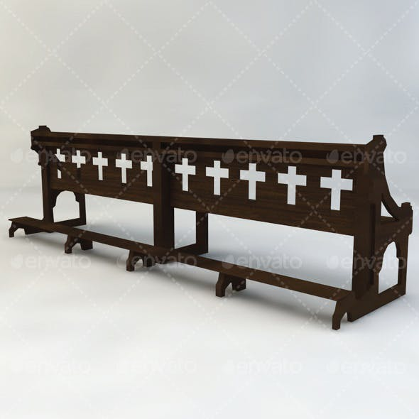 Church Bench - 3DOcean Item for Sale