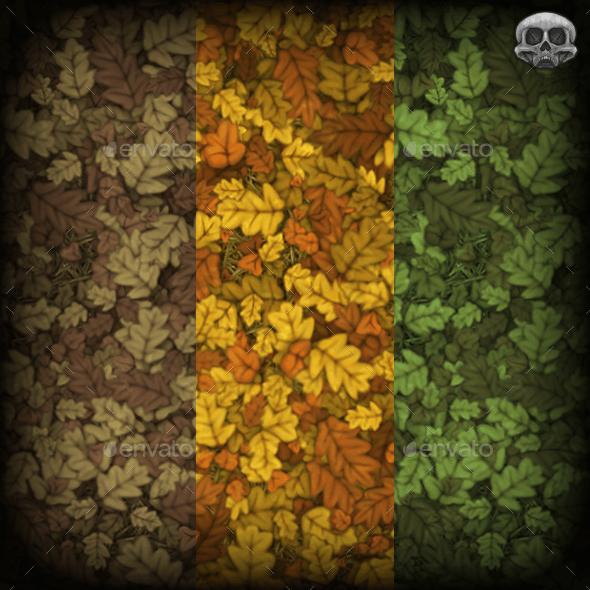Fallen Leaves Tiling Texture - 3DOcean Item for Sale