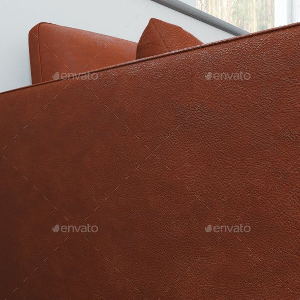 Seamless texture of red leather