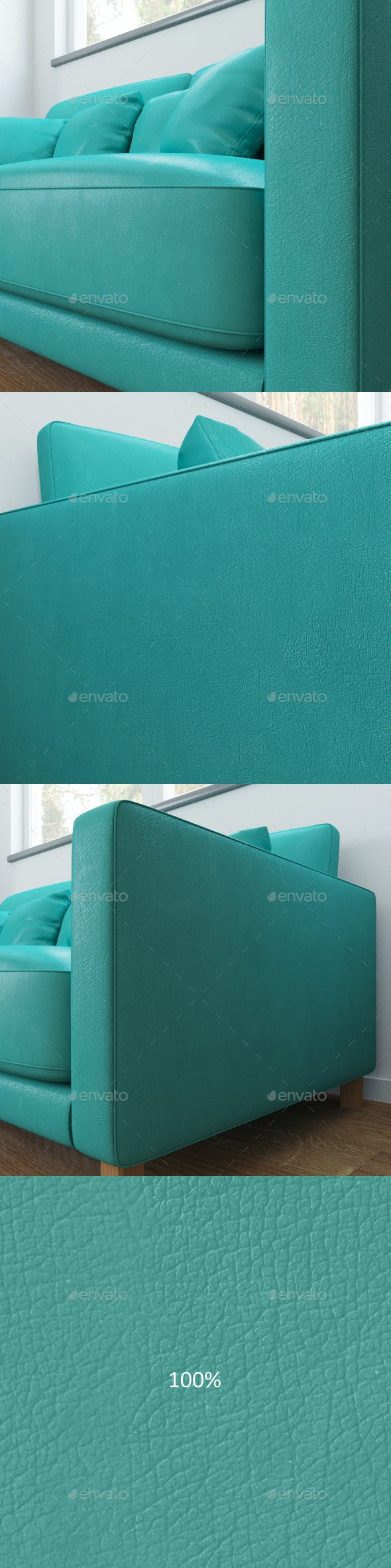 Mint color leather texture - 3DOcean Item for Sale