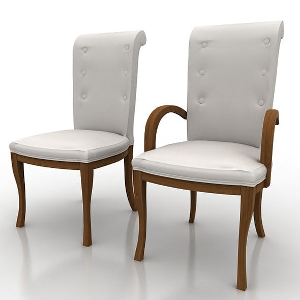 Armchair And Chair - 3DOcean Item for Sale
