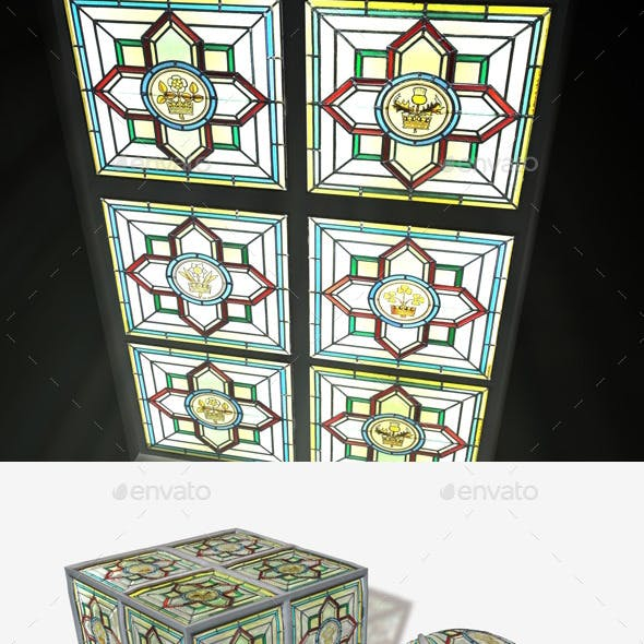 British Stained Glass Window Seamless Texture