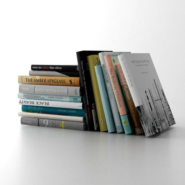 Set of books C4D + Vray
