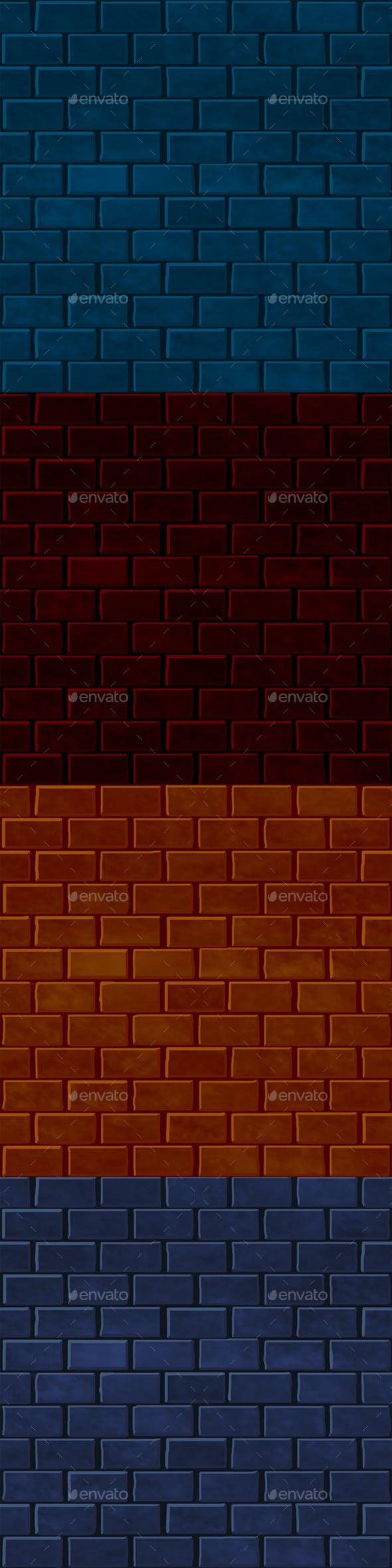 Tileable Brick-Texture - 3DOcean Item for Sale