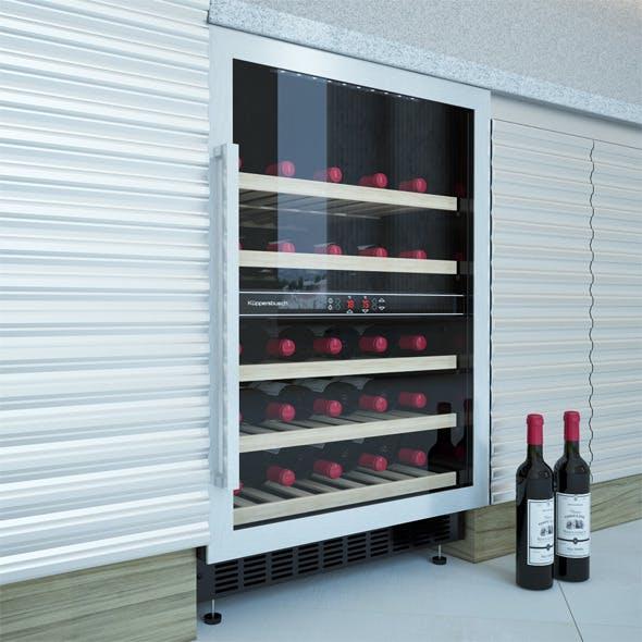 Electric Wine Cabinet Kuppersbusch UWK 8200-0-2Z - 3DOcean Item for Sale
