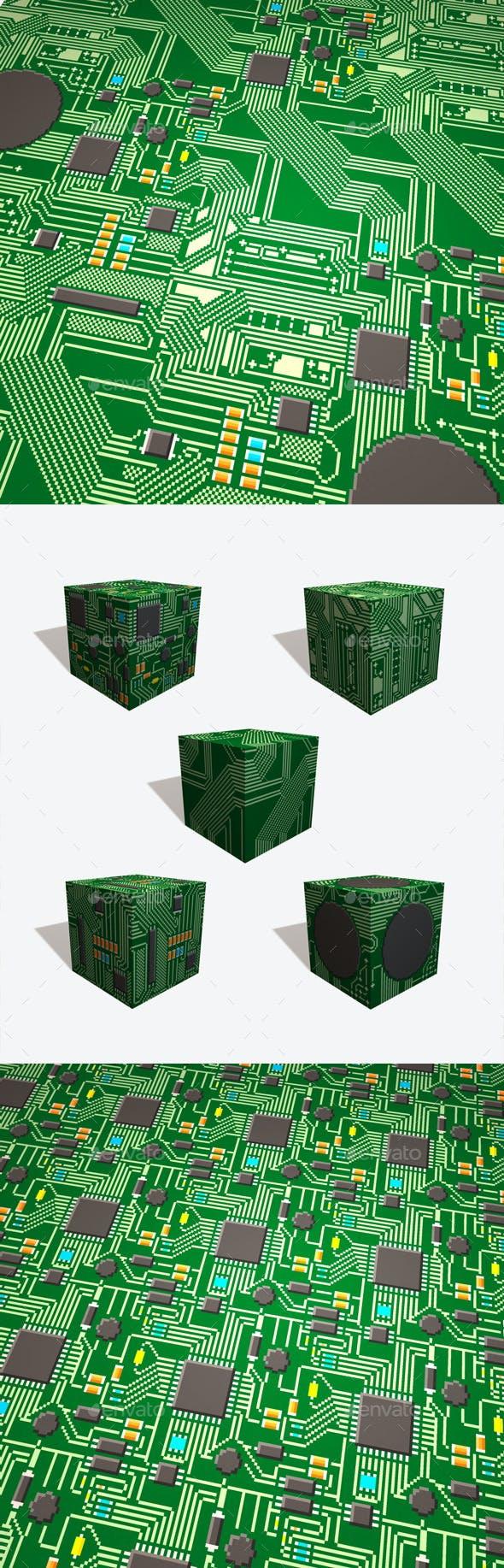 5 Circuit Board Pixel Textures - 3DOcean Item for Sale