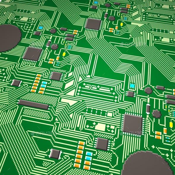 5 Circuit Board Pixel Textures