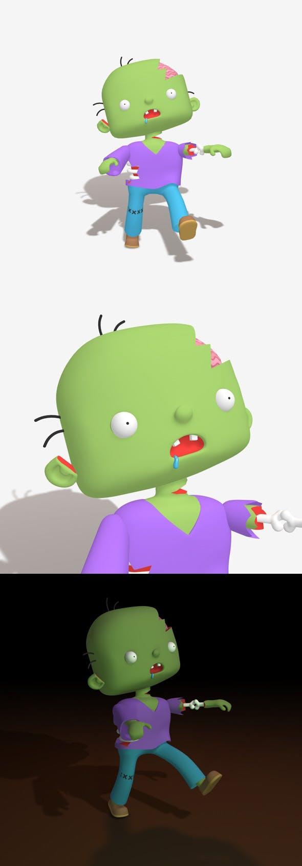 Cartoon Zombie - 3DOcean Item for Sale