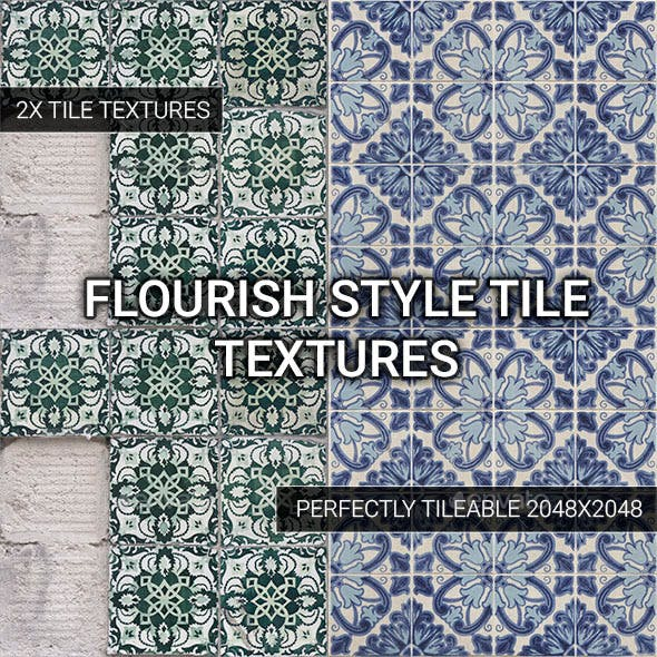 Flourish Style Tiles - Vol. 2