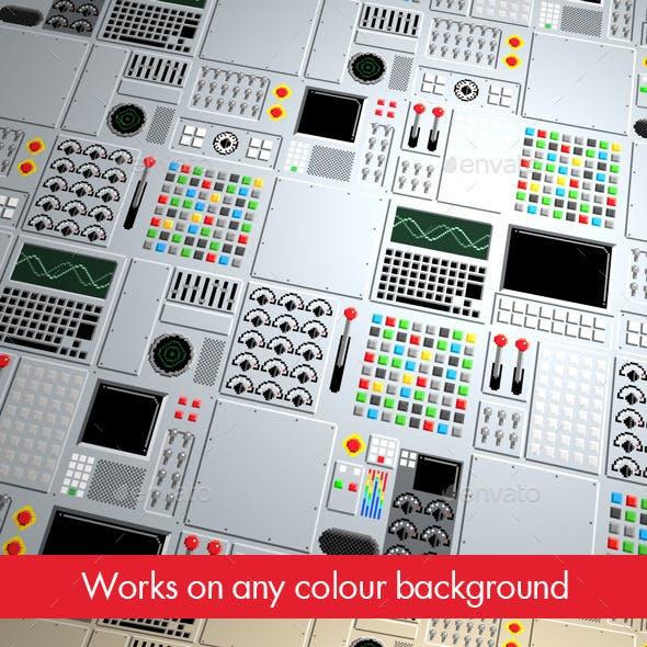 10 Control Panel Pixel Textures
