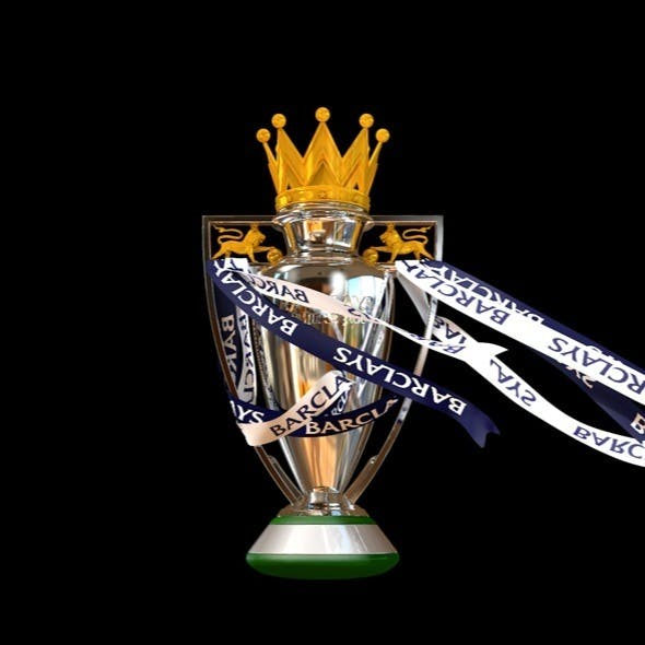 English Premier League Trophy with Fabric Animatio