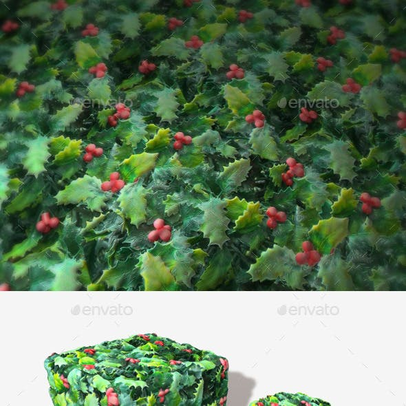Plastic Holly Seamless Texture