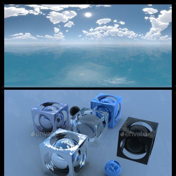 Ocean Blue Clouds 2 - HDRI