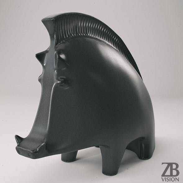 Ceramic Wild Boar  - 3DOcean Item for Sale