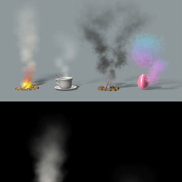 Simple Fire, Smoke, Steam and Magic Dust