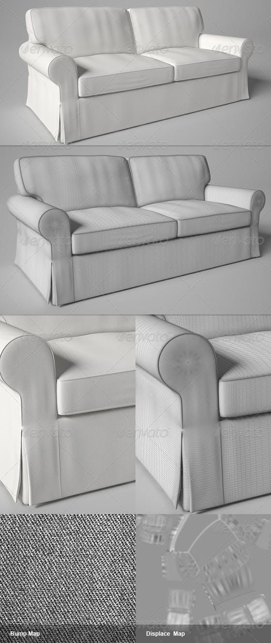 Ektorp IKEA Sofa - 3DOcean Item for Sale