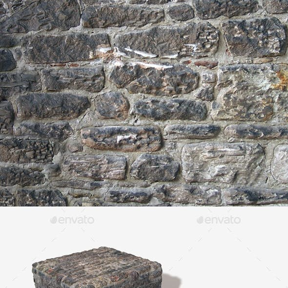 Re-plastered Rock Wall Seamless Texture