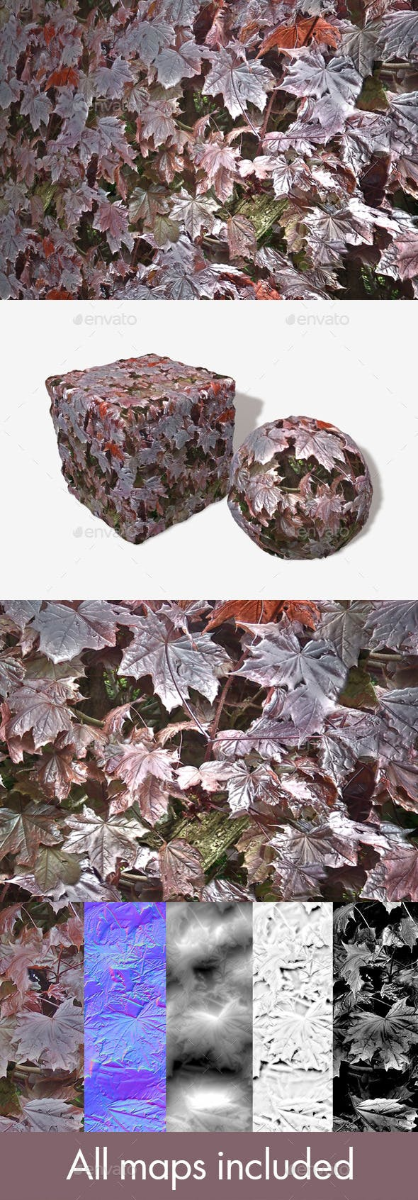 Shiny Leaves Seamless Texture - 3DOcean Item for Sale