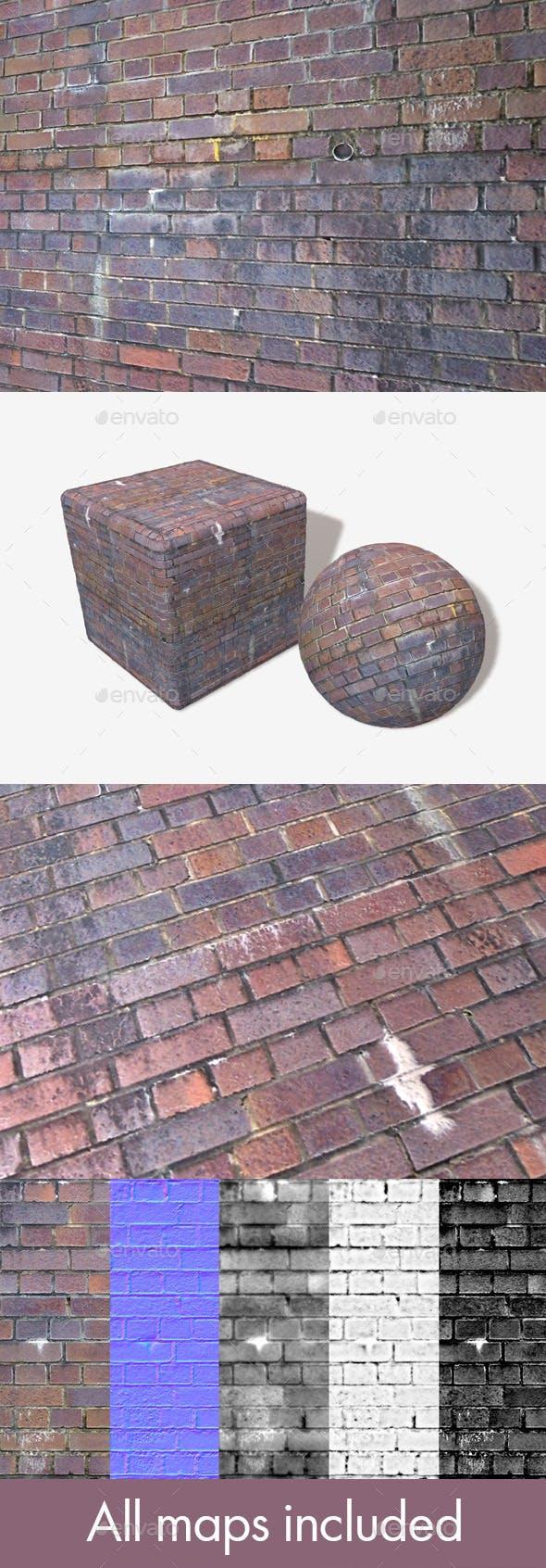 Dirty Purple Bricks Seamless Texture. - 3DOcean Item for Sale