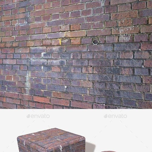 Dirty Purple Bricks Seamless Texture.