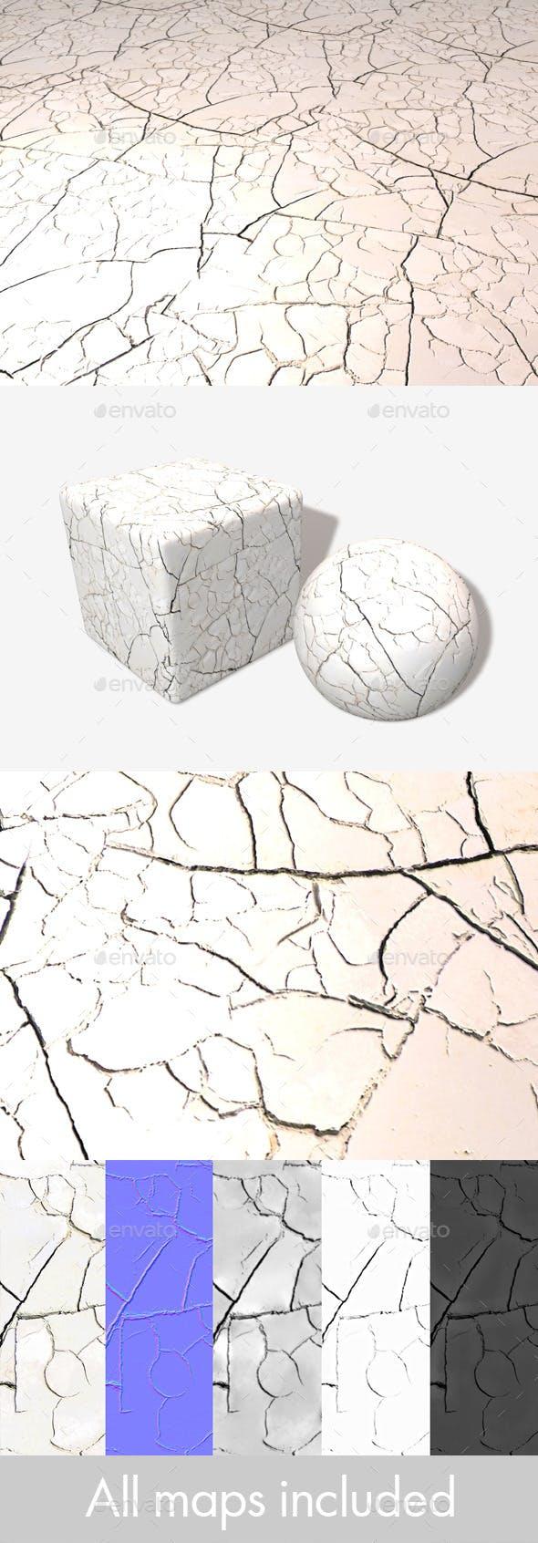White Cracked Desert Seamless Texture - 3DOcean Item for Sale