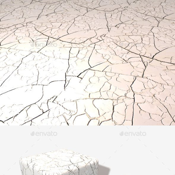 White Cracked Desert Seamless Texture