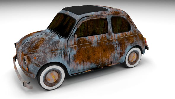 Rusty FIat 500 Nuova - 3DOcean Item for Sale